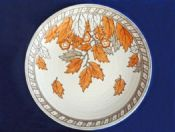 Charlotte Rhead Crown Ducal 'Golden Leaves' Wall Plaque c1937 - Pattern 4921